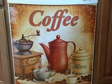 Nostalgic Vintage Coffee Dishwasher Cover Cup Mug Latte Java Mocha Kitchen Decor