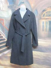 vintage 1980's SIZE 6 BERGHAUS BLUE MOHAIR AND WOOL BLEND BELTED WINTER COAT A12