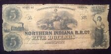 $5 185- Crawfordsville Logansport Northern Indiana Rail Road Company