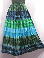 New Stunning Tie Dye Hippy Gypsy Long Skirt Beach Boho Size 12 14 16 18 20