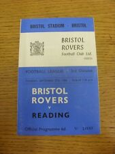 27/09/1966 Bristol Rovers v Reading  . Thanks for viewing this item, we try and