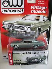 `66 Chevrolet Impala  Light-Green 1966 **RR** Auto World Muscle 1:64 NEU+OVP