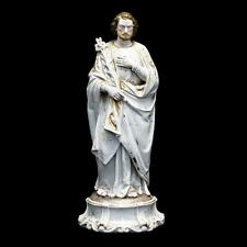 "RARE 16"" Large Antique 1800's Saint Joseph Vieux Old Paris Porcelain Figurine St"