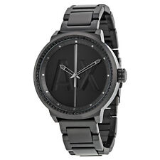 Armani Exchange ATLC Black Dial Black Ion-plated Stainless Steel AX1365