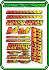 MUGEN SEIKI RC STICKER SHEET 1/8 BUGGY 1/10 CAR MTX6R MBX7R MRX6 GT ECO RED/YELO