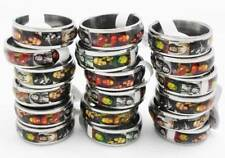 50pcs Bob Marley Rasta stainless steel rings wholesale lots jewelry
