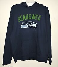 Seattle Seahawks Football NFL Hoodie/Hooded Sweatshirt Navy Blue X-Large -NWT