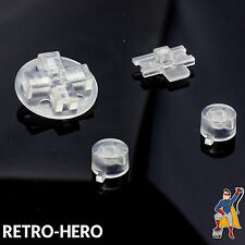Nintendo Game Boy Classic Knöpfe GB Buttons Tasten Pads DMG-01 Clear white Weiß