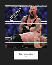 THE UNDERTAKER #2 (WWE) Signed 10x8 Mounted Photo Print - FREE DELIVERY