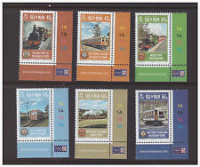Isle of Man 2013 Trains  Railways   mint set  MNH stamps,cylinder
