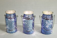 Set of 3 Indoor Outdoor Hand Blown Mercury Glass Mason Jars by Valerie LAVNDR$36