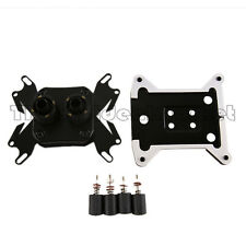 Water Cooling CPU Block Fits i3 i5 i7 AM3+ 2Pcs G1/4 Nozzle Fittings USA Seller