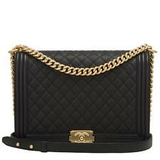 Chanel Black Caviar Large Boy Bag