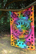 Sun Wall Tapestry Hanging Hippie Moon Indian Bedspread Psychedelic Zodiac Decor_