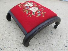 Antique Footstool 1915 Needlepoint