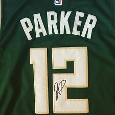 Jabari Parker Signed Autograph Rare Milwaukee Bucks Jersey NBA Duke