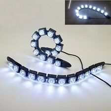 New 2x 12 LED Flexible DRL Daytime Running Light Driving Daylight Fog Light Lamp