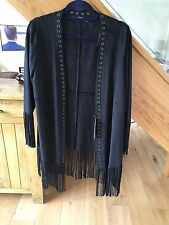 Gorgeous Black Faux Suede tasseled jacket by ZARA - New with tags RRP £50