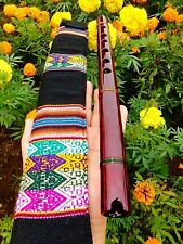 PROFESSIONAL NATIVE AMERICAN STYLE FLUTE MAHOGANY WOOD (G) Retail $250  NEW