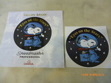"Omega Snoopy ""Eyes on the Stars"" stickers."