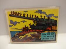 1957 Isolation Booth Card # 10 How Big Was The World's Largest Gun ?