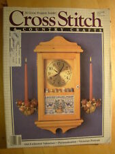 Cross Stitch & Country Crafts Magazine January 1988  26 Projects Victorian Portr