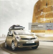 Nissan Note Accessories 2007-08 UK Market Sales Brochure