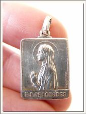 ANTIQUE 1908's 50th ANNIVERSARY OL LOURDES FRENCH MEDAL by PENIN PONCET !!!