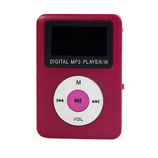 Hot Pink USB Digital MP3 Player Mini LCD Schermo Supporto 32GB Micro SD TF