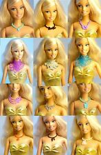 Lot 12 pcs Mattel Barbie FR Vintage Plastic Necklace for 1/6 12 inch Doll DA102