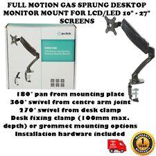 """Gas de movimiento completo de muelles monitor de escritorio de montaje para LCD/LED pantallas de 10"""" - 27"""""""