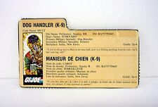 VINTAGE MUTT FILE CARD G.I. Joe Action Figure FRENCH / GOOD SHAPE 1984