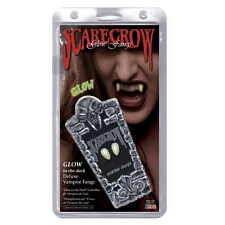Vampire Fangs Small Glow In The Dark Deluxe Custom Fangs by Scarecrow Dracula