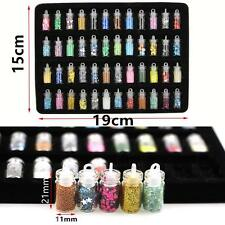DIY Manicure 48 MIX Colors Nail Art Stickers 3D Glitter Powder Sequins Set