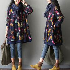 Print Embroidery Hoodie Coat Mori Girl Dress Loose Long Sleeve Lolita pullover#@