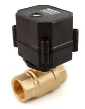 "3/4"" NPT Motorized Ball Valve Brass 9 V, 12 to 24 VDC/VAC 2-wire Normally Closed"