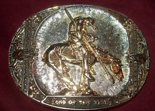 AWARD DESIGN MEDALS PRESENTS END OF THE TRAIL GOLD/SILVER PLATED FIRST EDITION