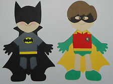 Batman & Robin Paper Dolls Set / CRICUT Die Cut/ PAPER PIECING/CAKE TOPPER