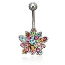 Dangle Belly Button Rings Unisey Crystal Jewelry Navel Bar Barbell Piercing Body