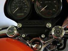 """New British Made """"Grooved"""" Bar Clock & Thermo Set for Harley, Bike, Motorcycle"""