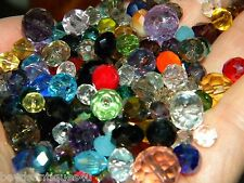 NEW 100 Czech Faceted GLASS beads lot 6-12mm SIZES mixed random pick colors