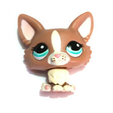 HASBRO LITTLEST PET SHOP LPS 1864 BROWN CORGI PUPPY DOG FROM BLYTHE SCOOTER SET!