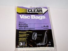 Case of 18 NIP new Micro Clean Eureka Upright style F & G VIP 1020 Vacuum bags