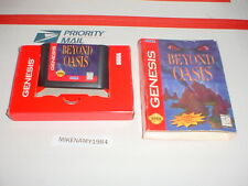 BEYOND OASIS game in box for SEGA GENESIS system