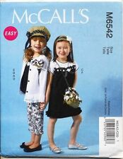 MCCALL'S SEWING PATTERN 6542 GIRLS 2-5 DRESS, TOP, CARDIGAN/JACKET PANTS HAT BAG