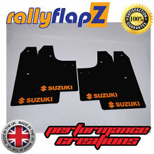 rallyflapZ SUZUKI IGNIS Sport 03-05 Mud Flap Mudflaps Black Logo Orange(3mm PVC)