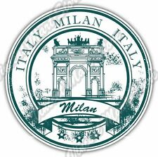 Milan Italy Country Vintage Retro Stamp Car Bumper Vinyl Sticker Decal 4.6""