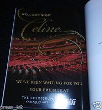 Celine Dion Souvenir Program Return to Las Vegas Show NEW MINT Dress Makeup Lift