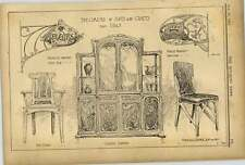 1902 Italy Arts Crafts Wrought Iron Cabinet Arm Chair