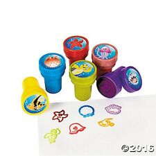 6 Seal Life Luau Self Ink Stampers Kids Crafts Birthday Party Favors Stamps